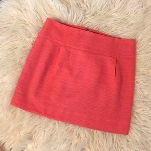 J. Crew Factory Skirts - J crew factory coral/pink tweed mini skirt